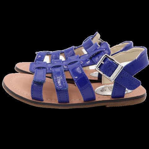 Sandale albastre lăcuite din  piele, Clarks . Mărime 26 și 27