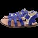 Sandale albastre lăcuite
