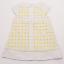 Rochiță elegantă alb și galben