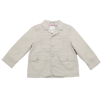 Jachetă bej din in și bumbac