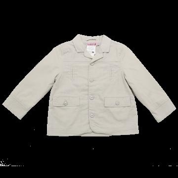 Jachetă bej din in și bumbac Boboli 2 ani (92 cm)