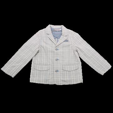 Jachetă bej și bleu în carouri Boboli 4 ani (104cm)