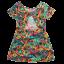 Rochiță colorată cu spatele gol