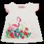 Tricou alb cu imprimeu flamingo