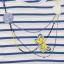 Rochiță cu dungi și model colier