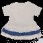 Rochiță cu volănașe din materiale diferite