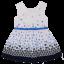 Rochiță retro cu floricele albastre și fundițe la spate