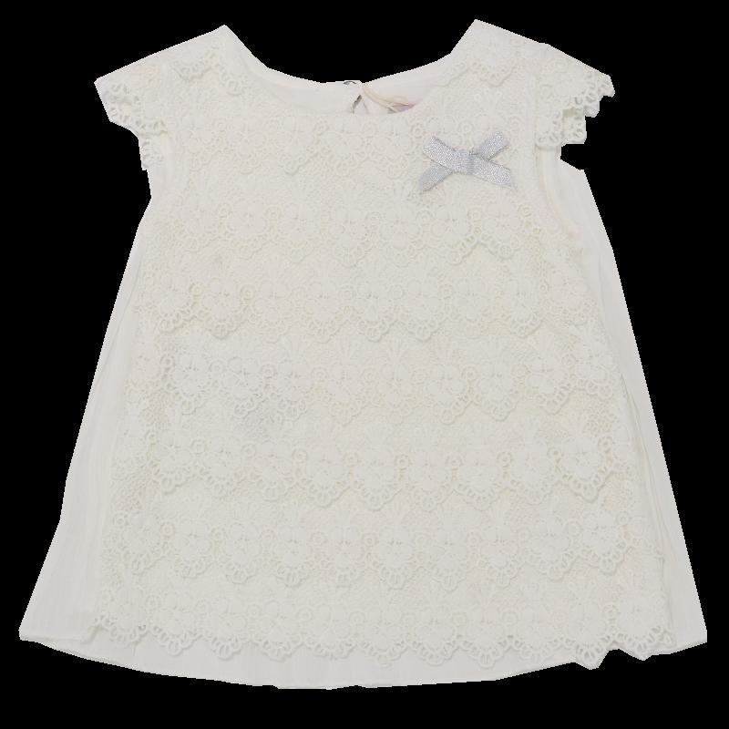Rochiță albă din dantelă