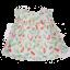 Rochiță plisată albă cu imprimeu pene colorate