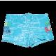 Slip de baie bleu cu imprimeu de vacanță