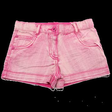 Pantaloni scurți roz din denim elastic