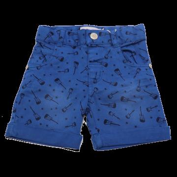 Pantaloni scurți albaștri cu imprimeu chitare Boboli 3-6 luni (68cm)