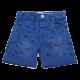 Pantaloni scurți albaștri cu imprimeu chitare