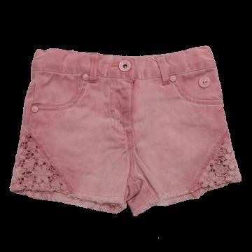 Pantaloni scurți roz din denim și dantelă Boboli 2 ani (92 cm) și 3 ani (98 cm)