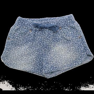 Pantaloni scurți albaștri cu imprimeu floricele Boboli 4 ani (104cm)