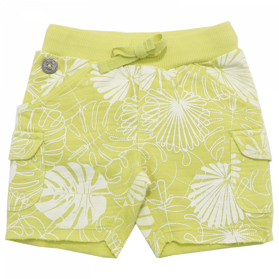 Pantaloni scurți verzi cu imprimeu frunze