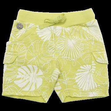 Pantaloni scurți verzi cu imprimeu frunze Boboli 3-6 luni (68cm)