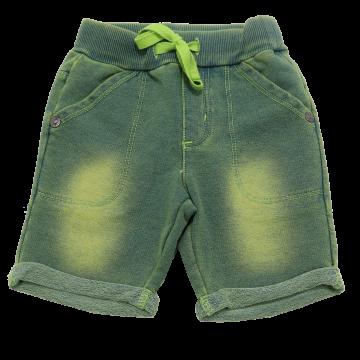 Pantaloni scurți verzi decolorați