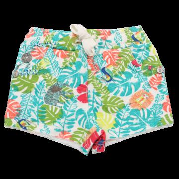 Pantaloni scurți cu imprimeu junglă