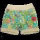 Pantaloni scurți verzi cu imprimeu junglă