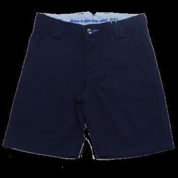 Pantaloni scurți bleumarin cu nasturi colorați