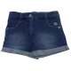 Pantaloni scurți albastru închis decolorat