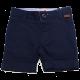 Pantaloni scurți bleumarin cu detalii cusute la buzunare