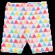 Colanți albi trei sferturi cu imprimeu triunghiuri colorate