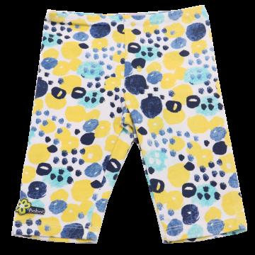 Colanți albi trei sferturi cu imprimeu galben, albastru și verde Boboli 3-6 luni (68cm) și 6-9 luni (74cm )