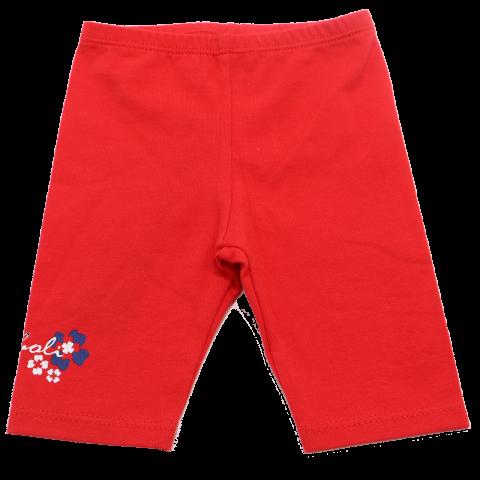Colanți trei sferturi roșii cu imprimeu mic Boboli 1-3 luni (62cm) și 9-12 luni (80cm)