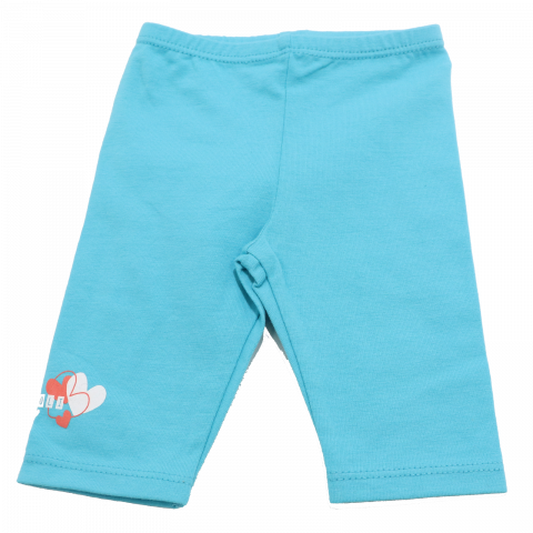 Colanți trei sferturi bleu cu imprimeu mic Boboli 1-3 luni (62cm) și 3-6 luni (68cm)