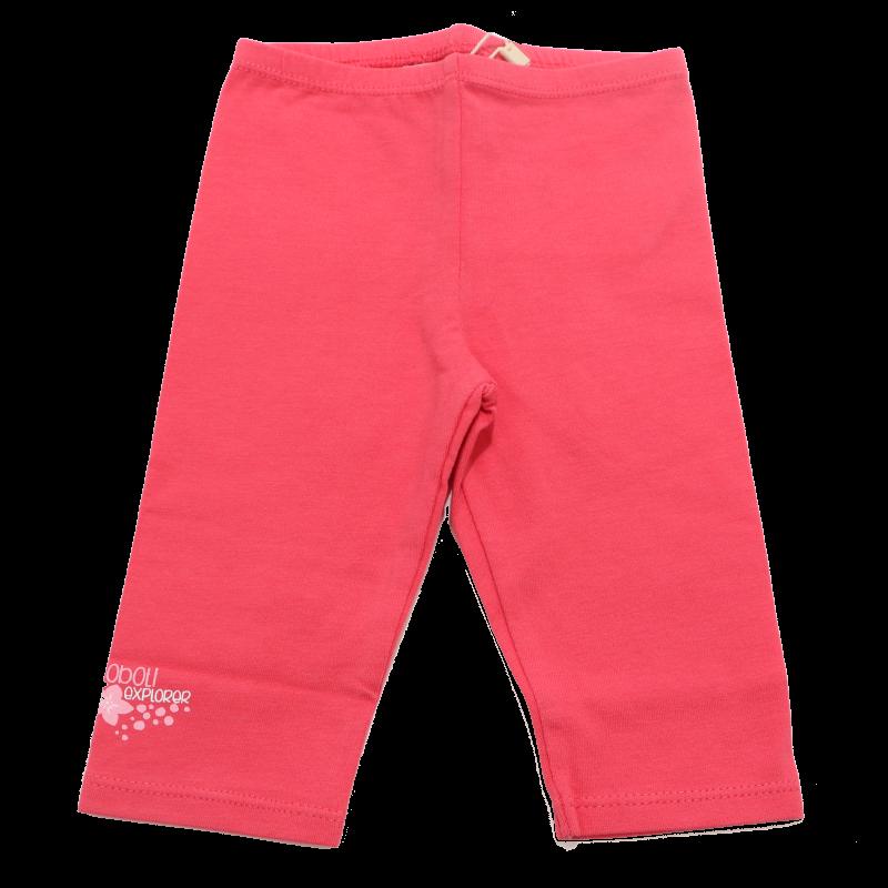 Colanți trei sferturi roz cu imprimeu mic