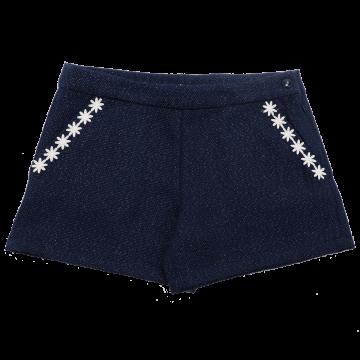 Pantaloni scurți eleganți bleumarin