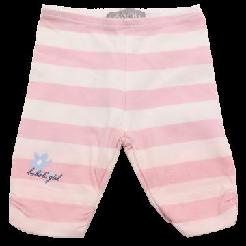 Colanți trei sferturi albi cu dungi roz Boboli 1-3 luni (62cm)