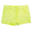 Pantaloni scurți verzi din denim elastic