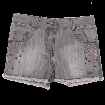 Pantaloni scurți gri din denim Boboli 4 ani (104cm)