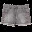 Pantaloni scurți gri din denim