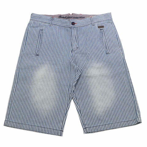 Pantaloni scurți bleu cu dungi albastre Boboli 4 ani (104cm) și 14 ani (162cm)
