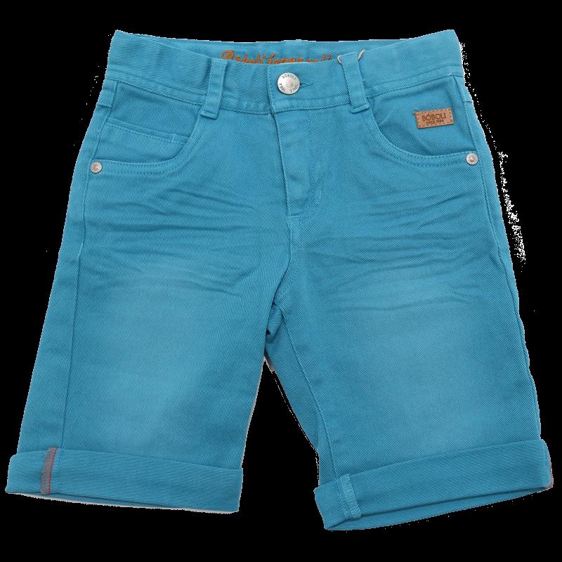 Pantaloni scurți turcoaz din denim