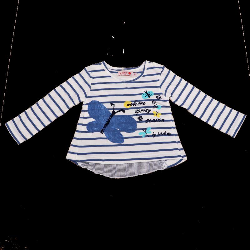 Bluză cu dungi și fluturași