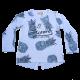 Bluză bleu cu imprimeu ananas