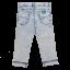 Jeans subțiri decolorați