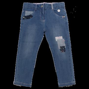 Jeans cu petice colorate