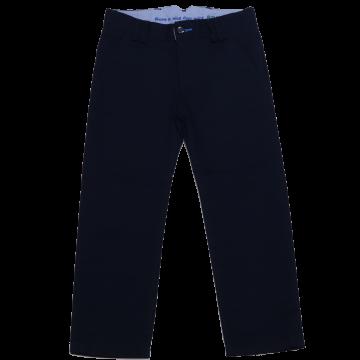 Pantaloni eleganți bleumarin din țesătură twill 733171