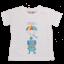 Tricou alb cu imprimeu elefant cu parașută