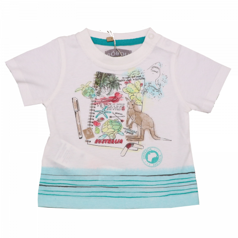 Tricou alb cu imprimeu Australia