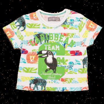 Tricou cu imprimeu tucan Caribbean Team