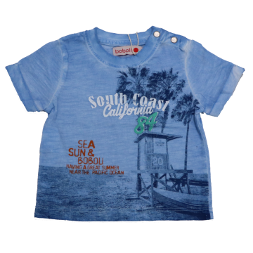 Tricou albastru decolorat South Coast California