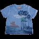 Tricou albastru decolorat South Coast California