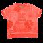 Tricou portocaliu decolorat cu buzunar în față